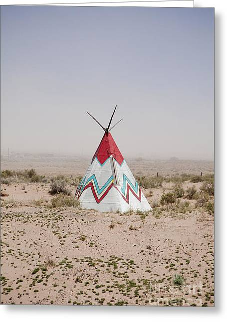 Native American Tipi Replica Greeting Card by Paul Edmondson