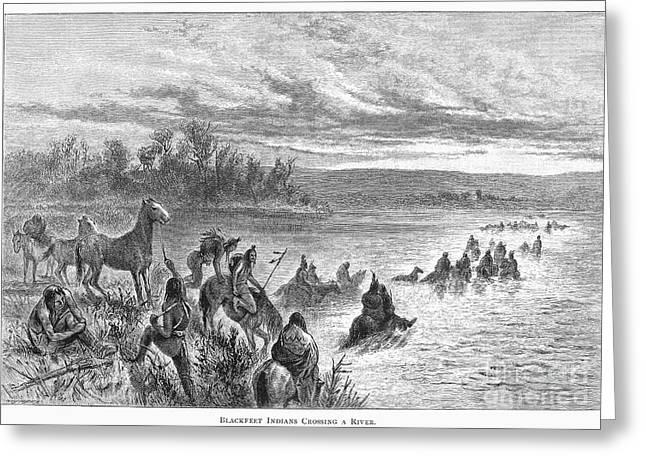 Native Americans: Blackfeet, C1860 Greeting Card by Granger