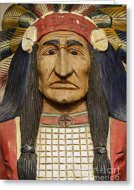 Native American Leaders Photographs Greeting Cards - Native Chief Greeting Card by John Greim
