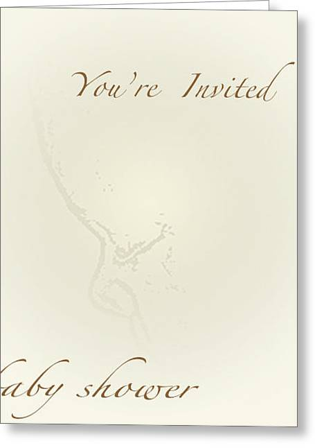 Best Sellers -  - Party Invite Greeting Cards - Natural Baby Shower Card Greeting Card by Debra     Vatalaro