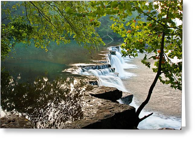 Crawford County Arkansas Greeting Cards - Natural Dam Greeting Card by Terry Olsen
