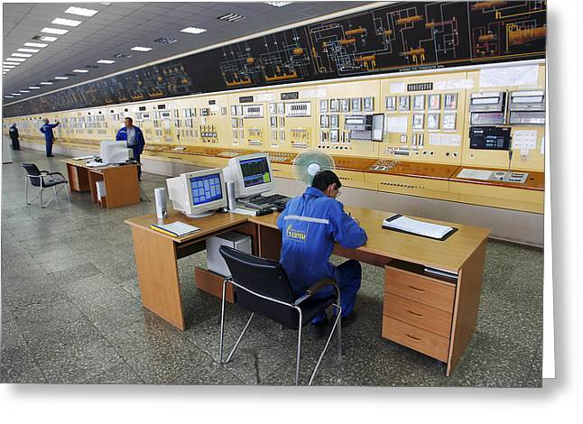 Control Panels Greeting Cards - Natural Gas Industry, Control Room Greeting Card by Ria Novosti
