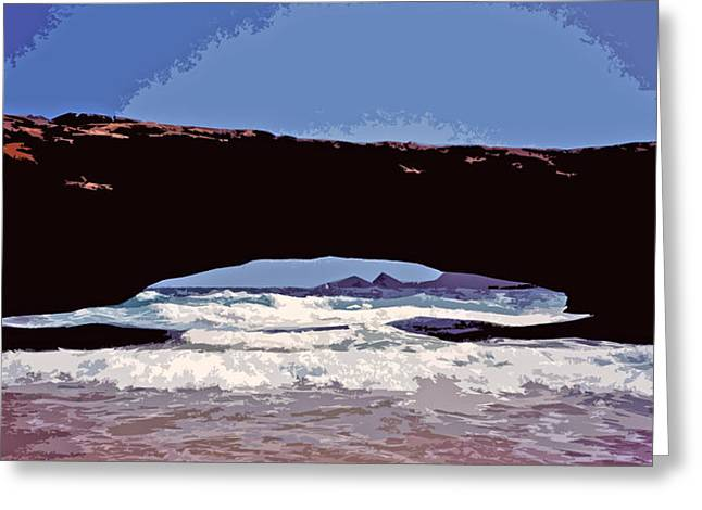Stein Greeting Cards - Natural Stone Bridge - Aruba Greeting Card by Juergen Weiss