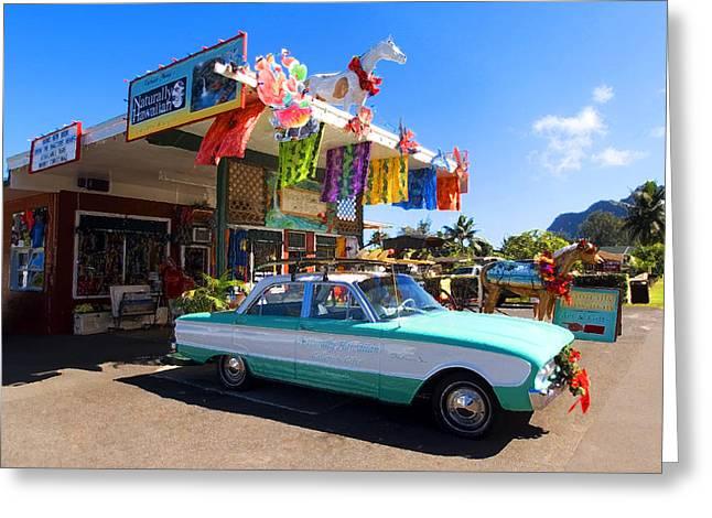 Oil Painter Greeting Cards - Naturally Hawaiian Greeting Card by Ron Regalado