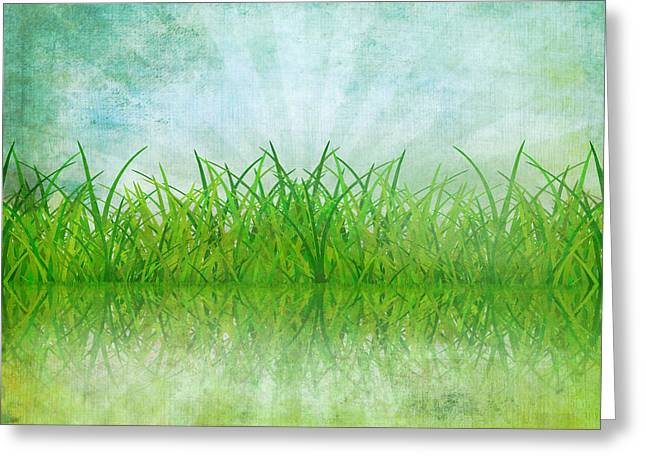Border Photographs Greeting Cards - Nature And Grass On Paper Greeting Card by Setsiri Silapasuwanchai