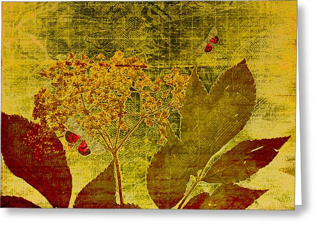 Nature at Work Greeting Card by Bonnie Bruno