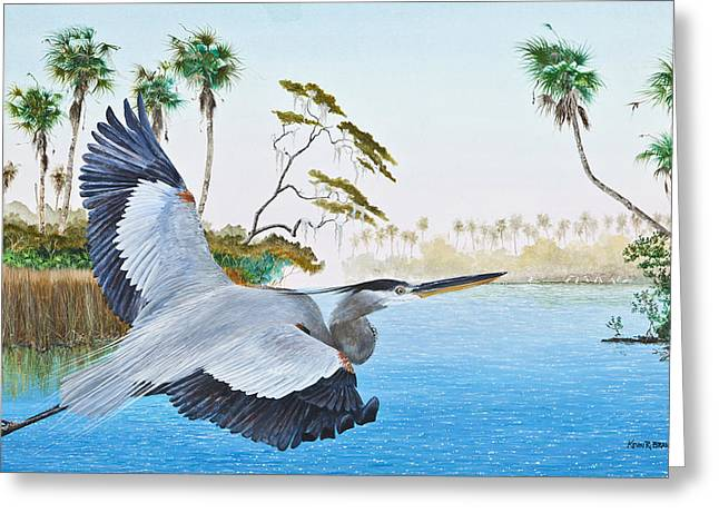 Kevin Brant Greeting Cards - Nature Coast 2 Greeting Card by Kevin Brant