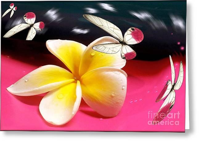 Floral Digital Art Greeting Cards - Nature in Orbit Greeting Card by Kaye Menner