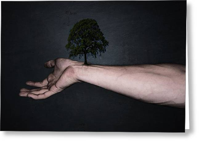 Fingers Greeting Cards - Nature inside me Greeting Card by Nicklas Gustafsson