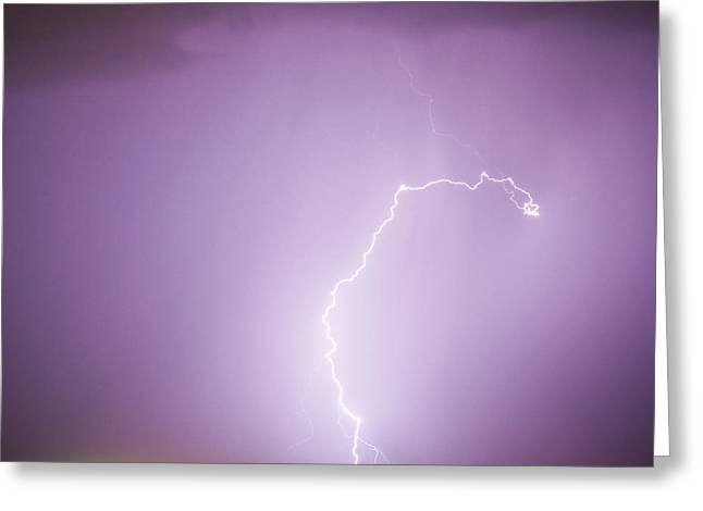 Images Lightning Greeting Cards - Nature Showing Face Greeting Card by James BO  Insogna
