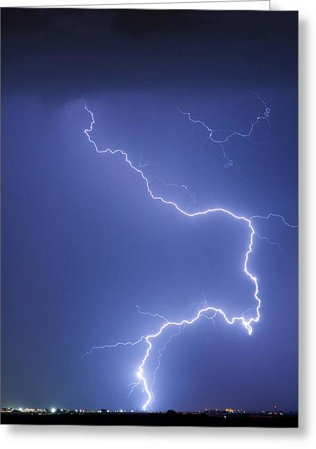 Images Lightning Greeting Cards - Nature Strikes Greeting Card by James BO  Insogna