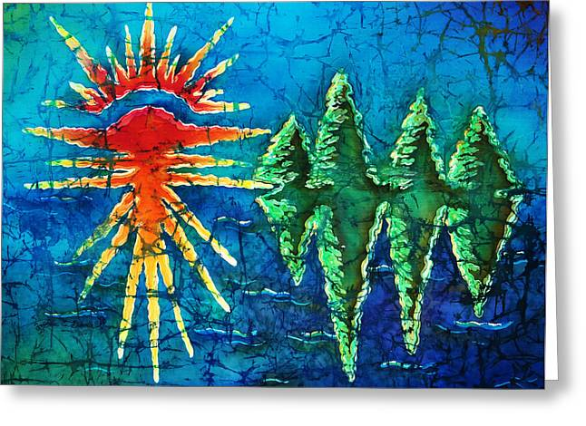 Natural Tapestries - Textiles Greeting Cards - Nature Greeting Card by Sue Duda