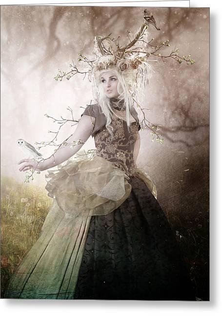 Berry Digital Art Greeting Cards - Naturel Greeting Card by Karen H