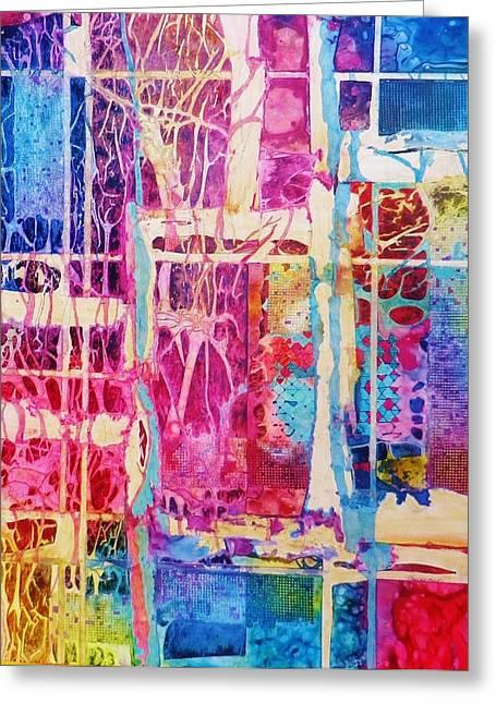 Representative Abstract Mixed Media Greeting Cards - Natures abstract Greeting Card by David Raderstorf