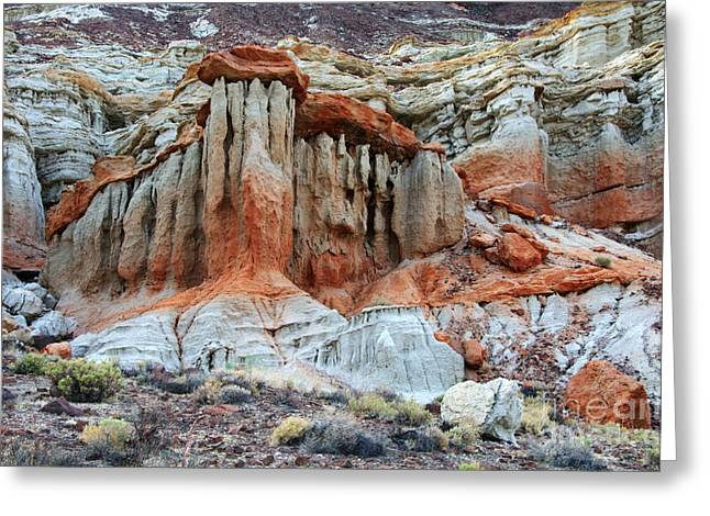 Layered Rock Greeting Cards - Natures Beauty Greeting Card by Bob Christopher