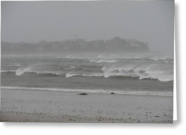 Best Sellers -  - Storm Clouds Cape Cod Greeting Cards - Natures Fury Greeting Card by Brian Mazzoli