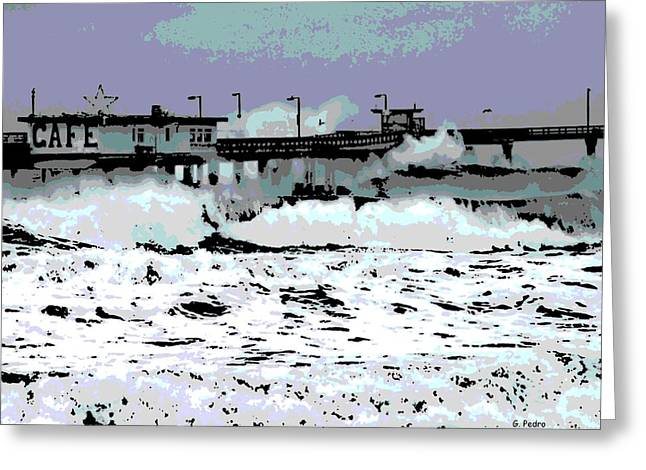 Flooding Digital Art Greeting Cards - Natures Fury Greeting Card by George Pedro