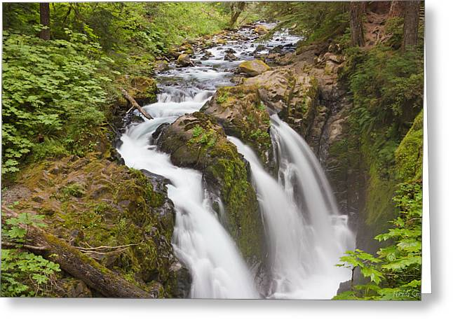 Waterfall Photography Greeting Cards - Natures Majesty II Greeting Card by Heidi Smith