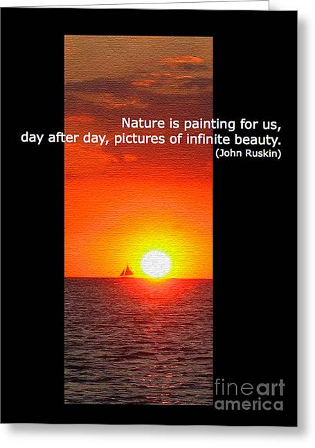 Golden Greeting Cards - Natures Painting Greeting Card by Judee Stalmack