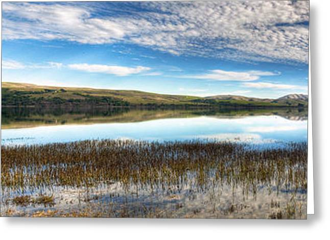 Blue Green Water Greeting Cards - Natures Reflection Greeting Card by Eddie Yerkish