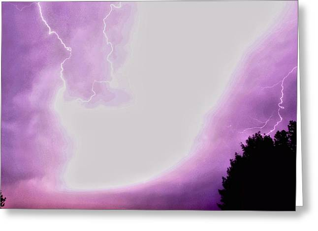 Lightning Greeting Cards - Natures Wonder Greeting Card by Don Mann