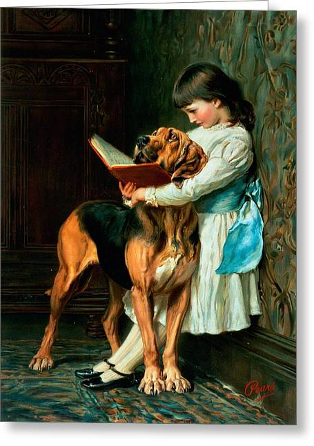 Naughty Greeting Cards - Naughty Boy or Compulsory Education Greeting Card by Briton Riviere