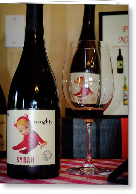 Syrah Photographs Greeting Cards - Naughty Greeting Card by Jeff Wilson