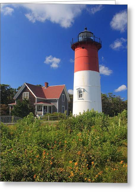 Cape Cod National Seashore Greeting Cards - Nauset Lighthouse Cape Cod Greeting Card by John Burk