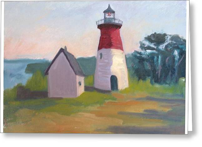 Nauset Lighthouse Cape Cod Greeting Card by Suzanne Elliott