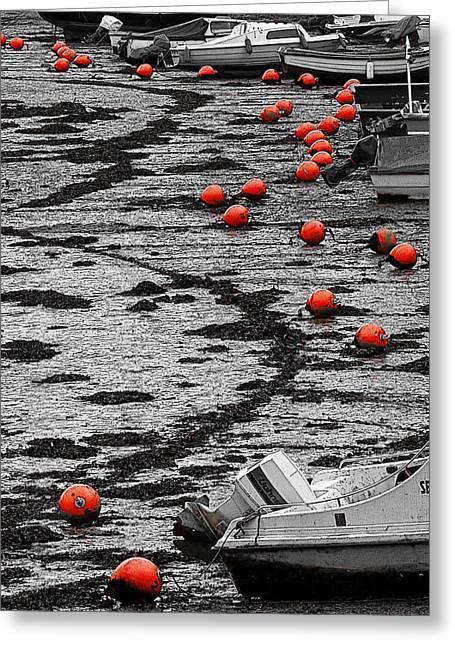 Nautical Beads Greeting Card by Barry Hayton
