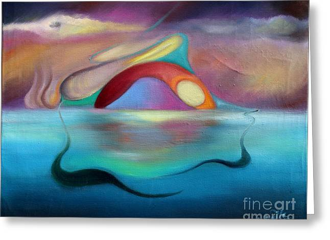 Surreal Landscape Greeting Cards - Nautilus Naciente Greeting Card by Aliosha Valle