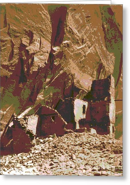 Del Muerto Greeting Cards - Navaho Antelope Ruin Greeting Card by Padre Art