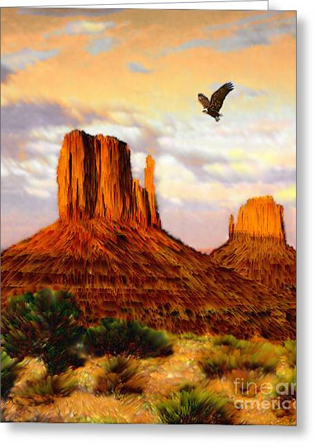 Jerry West Greeting Cards - Navajo Spirit Greeting Card by Jerry McElroy