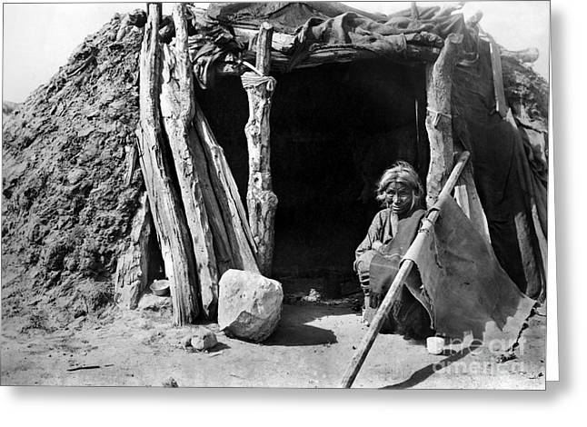 Early American Dwellings Greeting Cards - NAVAJO WOMAN, c1901 Greeting Card by Granger