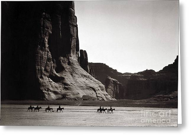 Canyons Greeting Cards - Navajos: Canyon De Chelly, 1904 Greeting Card by Granger