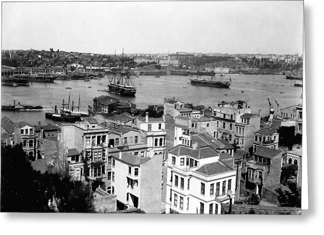 Military Might Greeting Cards - Naval Arsenal and the Golden Horn - Ottoman Empire - Turkey Greeting Card by International  Images