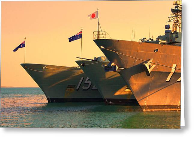 Naval Joint Ops V4 Greeting Card by Douglas Barnard