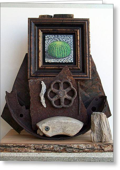 Wood Sculptures Greeting Cards - Navigate South Greeting Card by Snake Jagger
