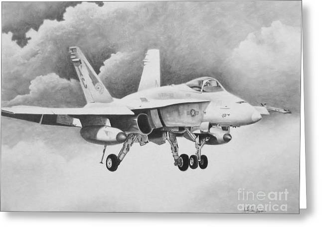Iraq Greeting Cards - Navy Hornet Greeting Card by Stephen Roberson