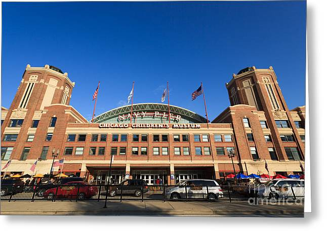 Editorial Greeting Cards - Navy Pier Chicago Childrens Museum Greeting Card by Paul Velgos