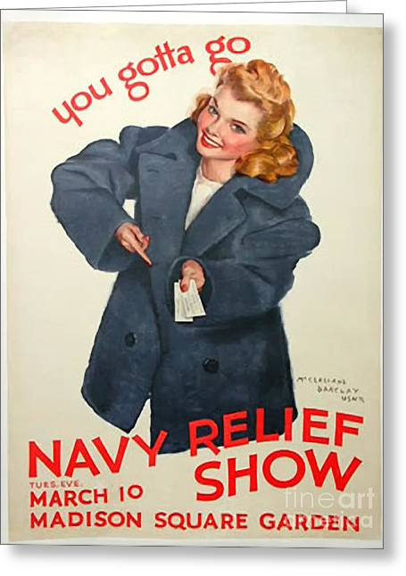 Fund Raising Greeting Cards - Navy Relief Show Greeting Card by Christopher Purcell