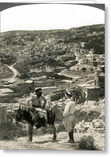 Israelite Greeting Cards - NAZARETH, PALESTINE, c1920 Greeting Card by Granger