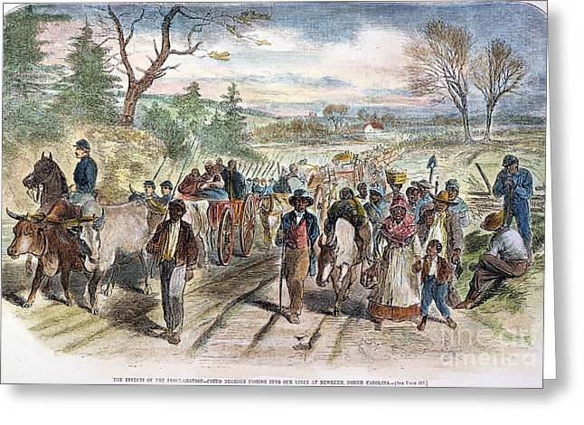 NC: FREED SLAVES, 1863 Greeting Card by Granger