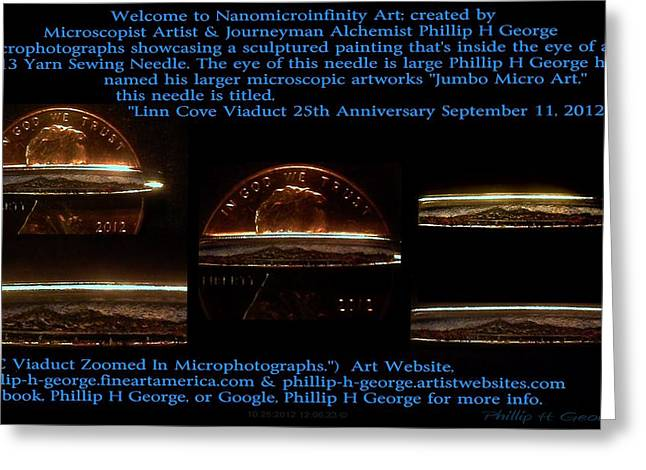 Microscopic Folk Sculptures Greeting Cards - NC Viaduct Zoomed In Microphotographs  Greeting Card by Phillip H George
