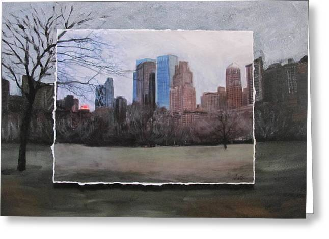 Ncy Central Park Layered Greeting Card by Anita Burgermeister