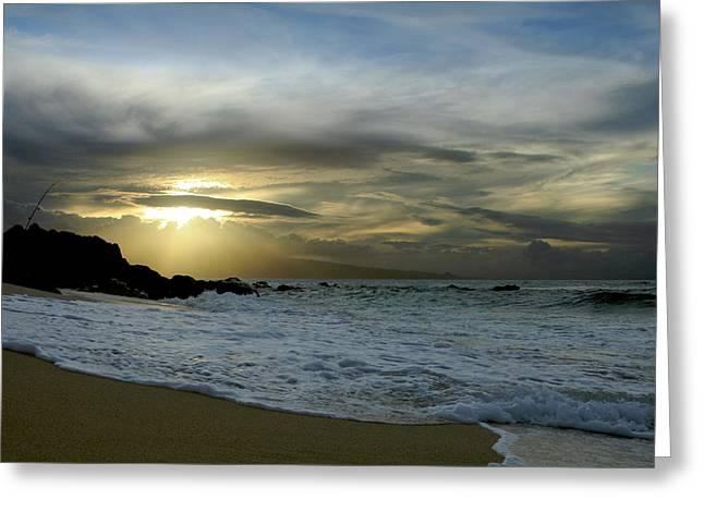 Pacific Ocean Prints Digital Art Greeting Cards - Ne Hoe Ka Leo O Ka Wai Hookipa Greeting Card by Sharon Mau