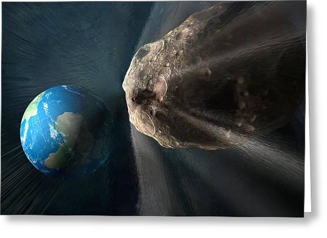 Near-earth Asteroid, Artwork Greeting Card by Henning Dalhoff