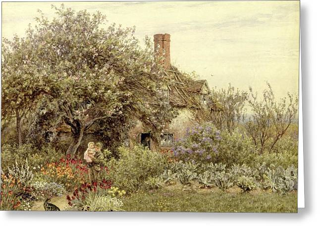 Country House Greeting Cards - Near Hambledon Greeting Card by Helen Allingham