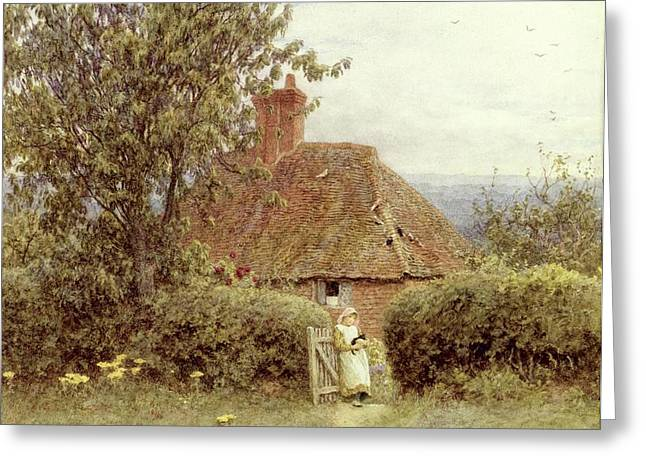 Near Haslemere Greeting Card by Helen Allingham