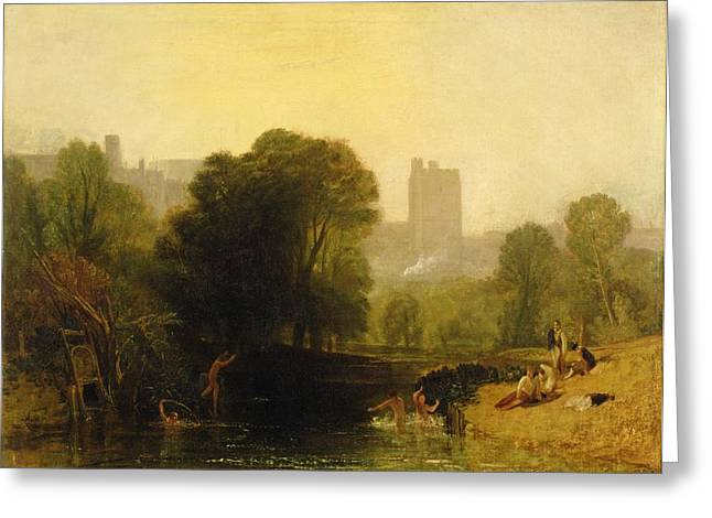 Skinny Greeting Cards - Near the Thames Lock Windsor Greeting Card by Joseph Mallord William Turner